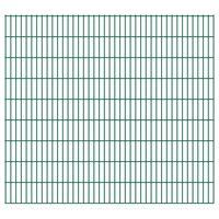 vidaXL Dubbelstaafmatten 2,008x1,83 m 32 m (totale lengte) groen