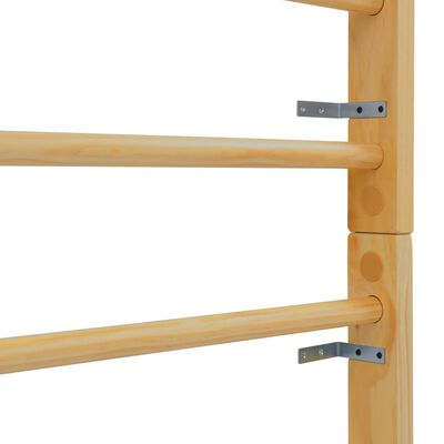 vidaXL Wandklimrek 80x15,8x195 cm hout