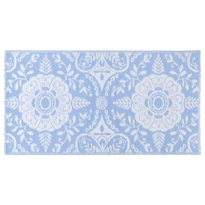 vidaXL Buitenkleed 160x230 cm PP babyblauw