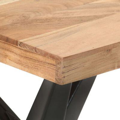 vidaXL Eettafel 120x60x76 cm massief acaciahout