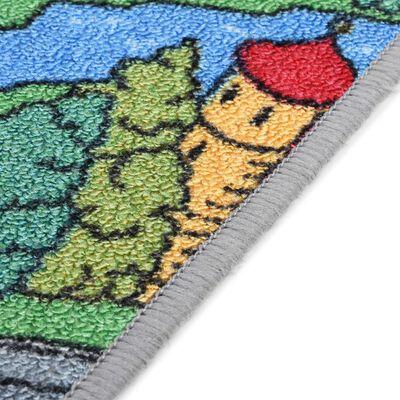 vidaXL Speeltapijt 90x200 cm lussenpool stadswegenpatroon