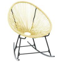 vidaXL Tuinmaanstoel schommelend poly rattan beige
