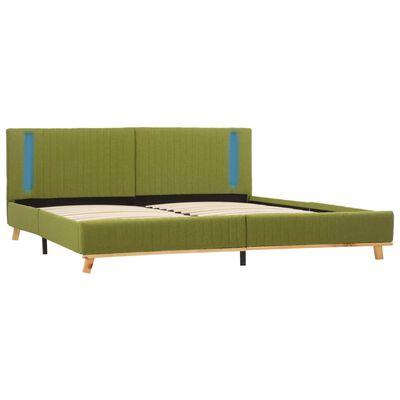vidaXL Bedframe met LED stof groen 160x200 cm