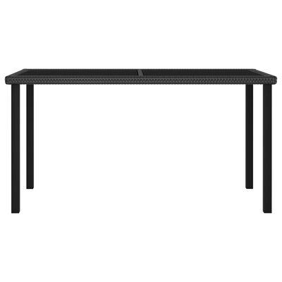 vidaXL Tuintafel 140x70x73 cm poly rattan zwart