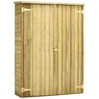 vidaXL Tuinschuur 123x50x171 cm geïmpregneerd grenenhout