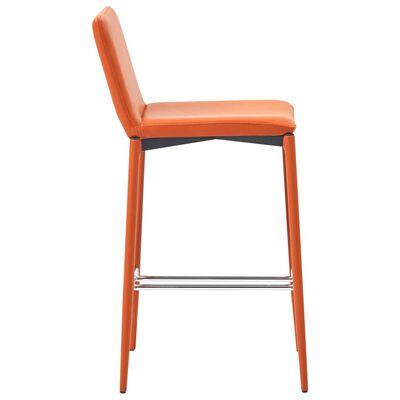 vidaXL Barkrukken 2 st kunstleer oranje
