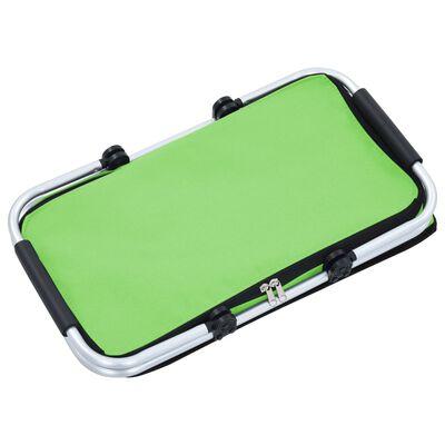 vidaXL Koeltas opvouwbaar 46x27x23 cm aluminium groen