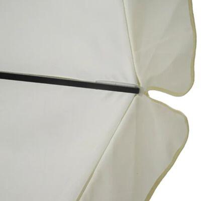 Parasol met draagbare voet aluminium (wit)