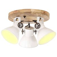 vidaXL Plafondlamp industrieel 25 W E27 42x27 cm wit