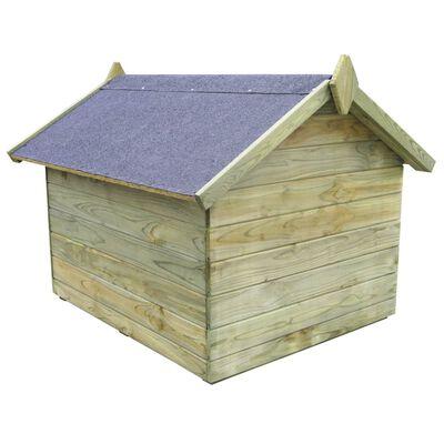 vidaXL Hondenhok voor tuin met opklapbaar dak geïmpregneerd grenenhout