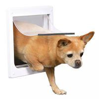 TRIXIE Hondenluik 2-weg maat XS-S 25x29cm wit 3877