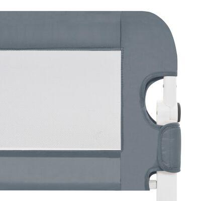 vidaXL Bedhekje peuter 180x42 cm polyester grijs