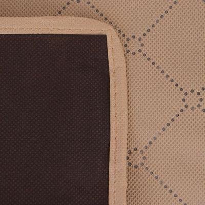 vidaXL Picknickkleed 100x150 cm beige en bruin