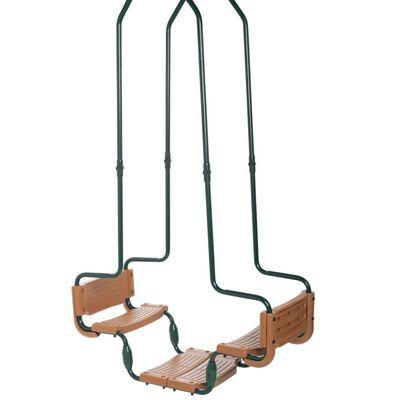 Swing King Dubbele schommel vierkante haak groen en bruin 2521138