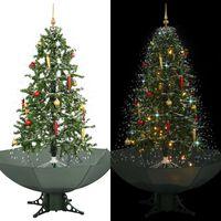 vidaXL Kerstboom sneeuwend met paraplubasis 170 cm groen