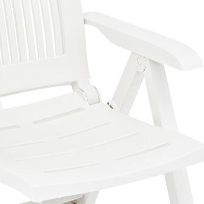 vidaXL Tuinstoelen 2 st verstelbaar kunststof wit