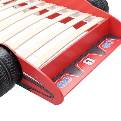 vidaXL Kinderbed raceauto rood 90x200 cm