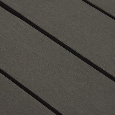 vidaXL Tuintafel 78x78x31 cm kunststof antraciet