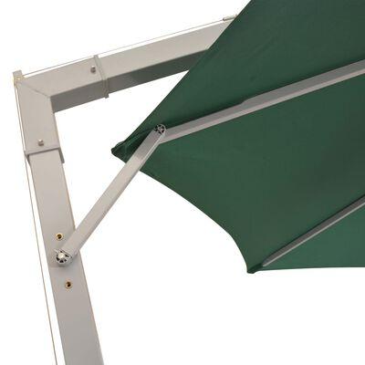 vidaXL Zweefparasol met aluminium paal 350 cm groen
