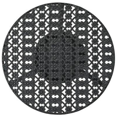 vidaXL Bistrotafel 40x70 cm metaal zwart