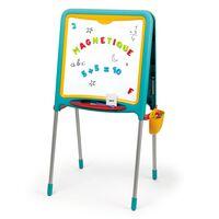 Smoby Kindertekenbord turquoise en geel