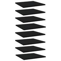 vidaXL Wandschappen 8 st 40x40x1,5 cm spaanplaat zwart