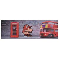 vidaXL Wandprintset Londen 120x40 cm canvas meerkleurig
