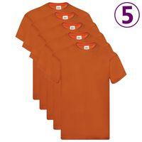 Fruit of the Loom T-shirts Original 5 st XXL katoen oranje