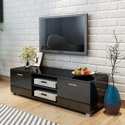 vidaXL Tv-meubel 140x40,3x34,7 cm hoogglans zwart