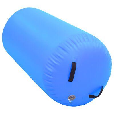 vidaXL Gymnastiekrol met pomp opblaasbaar 120x90 cm PVC blauw