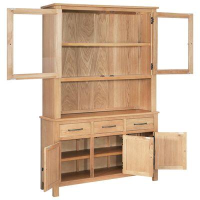 vidaXL Bovenbouw 110x33,5x105 cm massief eikenhout
