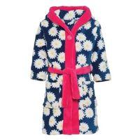 Blauw/roze badjas/ochtendjas bloemenprint voor kinderen - Playshoes