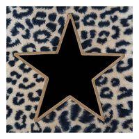 40x Panterprint servetten met zwart/gouden ster 33 x 33 cm