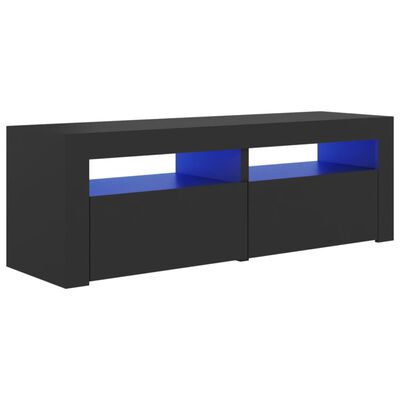 vidaXL Tv-meubel met LED-verlichting 120x35x40 cm grijs