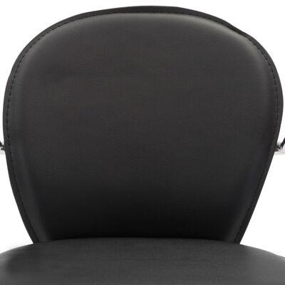 vidaXL Barkrukken met armleuning 2 st kunstleer zwart