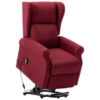 vidaXL Sta-op-stoel stof wijnrood