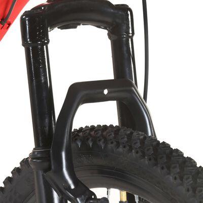 vidaXL Mountainbike 21 versnellingen 27,5 inch wielen 38 cm frame rood