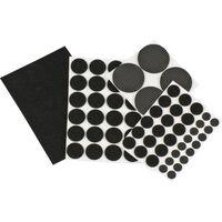 126x stuks meubelvilten / anti-kras viltjes rond zwart -