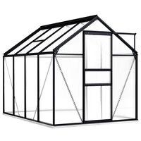 vidaXL Broeikas met basisframe 4,75 m² aluminium antraciet