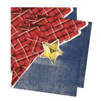 12x Wild West feest thema servetten 33 x 33 cm - Papieren wegwerp