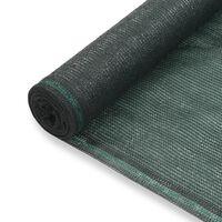 vidaXL Tennisscherm 1,6x100 m HDPE groen