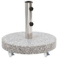 vidaXL Parasolvoet rond 30 kg graniet grijs