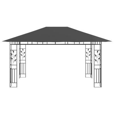 vidaXL Prieel met klamboe 180 g/m² 4x3x2,73 m antraciet