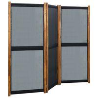 vidaXL Kamerscherm met 3 panelen 210x170 cm zwart