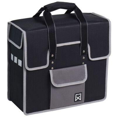 Willex Fietstas 18 L zwart en grijs 10102