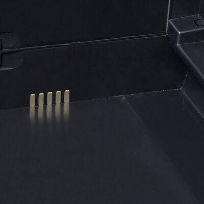 vidaXL Tuinkast met 4 schappen zwart en grijs