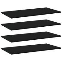 vidaXL Wandschappen 4 st 80x40x1,5 cm spaanplaat zwart