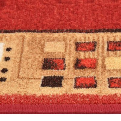 vidaXL Tapijtloper met gelbodem 67x300 cm rood
