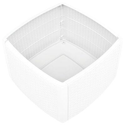 vidaXL Bijzettafel 54x54x36,5 cm kunststof wit