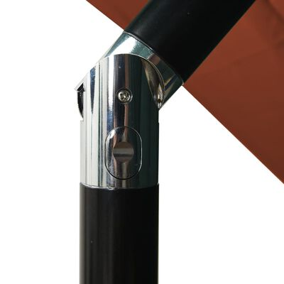 vidaXL Parasol 3-laags met aluminium paal 2,5x2,5 m terracottakleurig